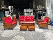 [9成新] 正樟木大小茶几輔助椅沙發椅組木製沙發無破損有使用痕跡
