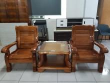 [95成新] 九成新混搭式原木實木沙發組木製沙發近乎全新