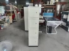[95成新] 直立式四格置物鐵櫃含腳架辦公櫥櫃近乎全新