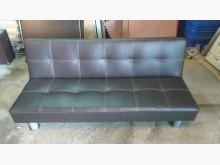 [9成新] 咖啡色三人座皮沙發床沙發床無破損有使用痕跡