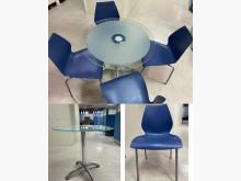 [9成新] 玻璃洽談組椅(附4張椅子)會議桌無破損有使用痕跡