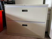 [9成新] OA兩抽理想櫃辦公櫥櫃無破損有使用痕跡
