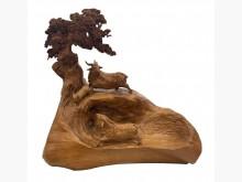 [9成新] R10903檜木三洋開泰木雕藝品擺飾無破損有使用痕跡