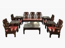 [9成新] RW11201花梨木12件客廳椅木製沙發無破損有使用痕跡