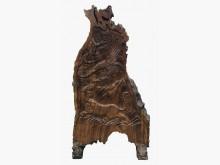 [全新] R11202*梢楠木雕刻屏風擺飾全新