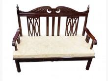 [9成新] A70424*花梨木雙人木沙發*木製沙發無破損有使用痕跡