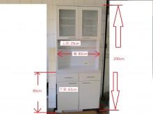 [8成新] 白色典雅電器櫃碗盤櫥櫃有輕微破損