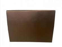 [9成新] B61902*咖啡色皮面5尺床頭床頭櫃無破損有使用痕跡