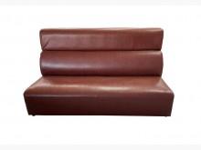 [9成新] A70501*咖啡三人皮沙發*雙人沙發無破損有使用痕跡