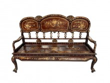 [8成新] RW70504*花梨紅木古董椅*椅子有輕微破損