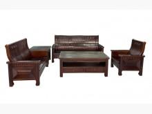 [9成新] ZH70511*樟木123+茶几木製沙發無破損有使用痕跡