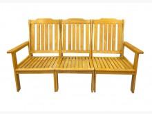 [9成新] A70512*實木三人坐椅*其它桌椅無破損有使用痕跡
