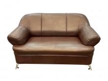 [9成新] A70519*咖啡雙人皮沙發*雙人沙發無破損有使用痕跡