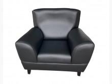 [全新] OZ316BH*全新黑皮單人沙發單人沙發全新