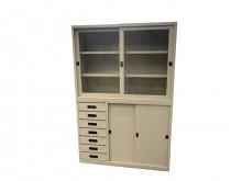 [全新] EA212DC*新玻璃門上下鐵櫃辦公櫥櫃全新