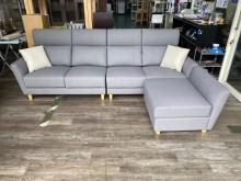 [全新] 吉田二手傢俱❤全新貓抓皮L型沙發L型沙發全新