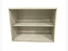 [9成新] C62711*白色2層文件鐵櫃辦公櫥櫃無破損有使用痕跡