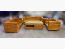 [8成新] TK71201*柚木沙發組沙發木製沙發有輕微破損