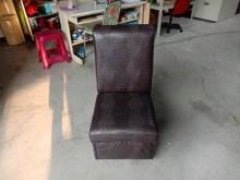 [9成新] 咖啡皮製沙發中椅H03956單人沙發無破損有使用痕跡