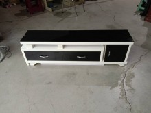 [95成新] 黑白配鋼琴烤漆可拉長電視櫃電視櫃近乎全新
