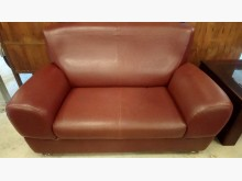 [9成新] 大台北二手傢俱-雙人皮沙發雙人沙發無破損有使用痕跡