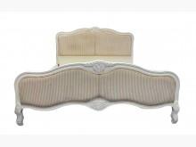 [7成新及以下] B72211*白色雙人加大床架*雙人床架有明顯破損