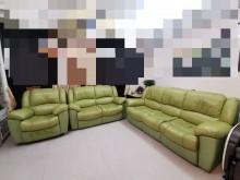[7成新及以下] 頭層皮牛皮沙發組可分賣多件沙發組有明顯破損