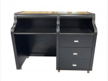 [9成新] E72015*黑色三抽書桌*書桌/椅無破損有使用痕跡