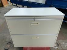 [9成新] 大慶二手家具 三尺兩抽鐵櫃辦公櫥櫃無破損有使用痕跡