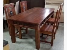 [9成新] 二手。實木。鄉村風。餐桌椅組。一餐桌椅組無破損有使用痕跡