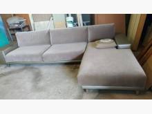 [9成新] 淺棕色右L布沙發L型沙發無破損有使用痕跡