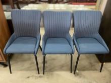 [全新] 新品米樂藍色布鐵腳餐椅餐椅全新