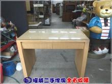 [9成新] 權威二手傢俱/白橡二抽書桌書桌/椅無破損有使用痕跡