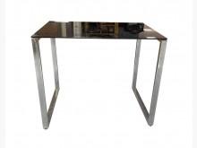 [8成新] *E72339*黑玻璃書桌*茶几有輕微破損