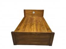 [9成新] B73015*柚木床底含床頭板單人床架無破損有使用痕跡