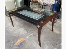 [9成新] 三合二手物流(實木玻璃面餐桌)餐桌無破損有使用痕跡
