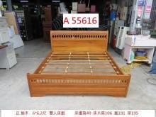 [9成新] A55616 全實木柚木6尺床架雙人床架無破損有使用痕跡