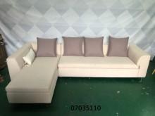[9成新] 二手/中古 淺色布L型沙發L型沙發無破損有使用痕跡