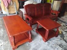 [8成新] 3+人木椅+大小茶几木製沙發有輕微破損
