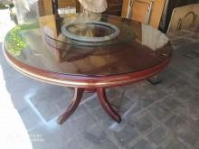[95成新] 圓餐桌直徑120高78公分+轉盤餐桌近乎全新
