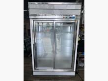 [9成新] 吉田二手傢俱❤雙開滑門玻璃冰箱冰箱無破損有使用痕跡