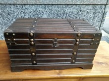 [7成新及以下] 仿古!!! 百寶箱 寶藏箱其它古董家具有明顯破損