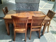 [9成新] 實木!!! 餐桌椅組餐桌椅組無破損有使用痕跡