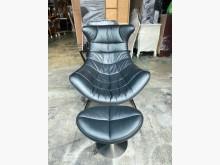 [8成新] 黑色牛皮單人沙發躺椅+腳蹬*單人單人沙發有輕微破損