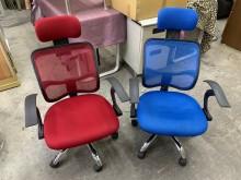 [9成新] 大慶二手家具 高背網布電腦椅(張電腦桌/椅無破損有使用痕跡