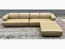 [9成新] 三合二手物流(L型皮沙發組)L型沙發無破損有使用痕跡