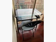 [95成新] 時尚實用頗璃電腦桌賣屋求現電腦桌/椅近乎全新