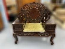 [9成新] *ZM70436*雞翅木龍雕主椅子無破損有使用痕跡