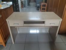 [9成新] 白橡色木心板4尺電腦書桌電腦桌/椅無破損有使用痕跡