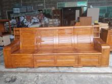 [9成新] 樟木實木可掀式四人座木沙發木製沙發無破損有使用痕跡